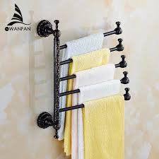<b>Towel Racks Brass</b> Wall Mount 3 6 Active <b>Bars</b> Rotate Rail Towel ...