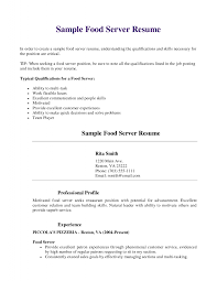 food server resume sample template food server resume sample