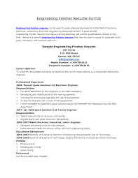 Resume Examples  Electrical Engineering Resume Objective