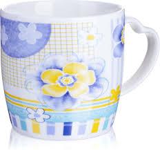 """<b>Кружка Loraine</b> """"<b>Фиалки</b>"""", <b>цвет</b>: белый, голубой, желтый, 300 мл ..."""