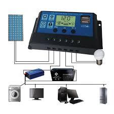 <b>PWM</b> 10/20/30A Dual USB <b>Solar Panel</b> Battery <b>Regulator Charge</b> ...