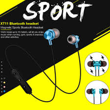 1 Pcs <b>XT11 Magnetic Wireless Bluetooth</b> Headset 4.2 Stereo Sports ...
