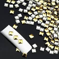 <b>1 Wheel</b> Fashion About <b>120 Pcs</b> Nail Sticker Blinking Gold Silver 3D ...