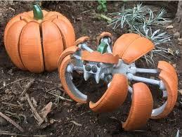 <b>Halloween Pumpkin</b> Spider Transformer by Megawillbot - Thingiverse
