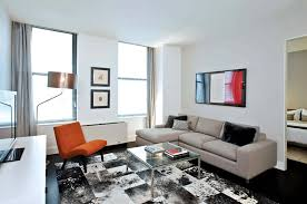 modern rental apartment living room seating furniture design 25 broad financial district nyc apartment furniture nyc