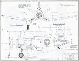 chance vought f4u 1d corsair us navy 4 views drawings navy on simon eagle at40c schematic