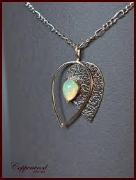 Opal Metalwork necklace Antique silver Metalsmith pendant | Etsy ...