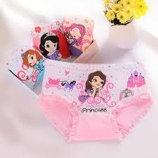4pcs/Lot Cotton Girls <b>Panties Cute</b> Cartoon Kids Briefs Cat Female ...