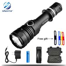 <b>LED</b> Flashlight XML L2 10000LM <b>Superbright Tactical</b> Torch 5 ...