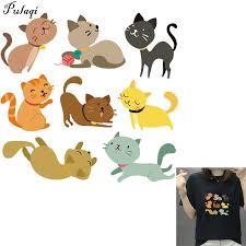 <b>Pulaqi Cartoon</b> Pet Cat <b>Appliques</b> Fashion Animal Transfers Badges ...