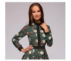 S.FLAVOR <b>patchwork printing women A line</b> dress 2020 Spring ...