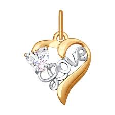 <b>Подвеска</b> «<b>Love</b>» из золота SOKOLOV – купить в официальном ...