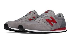 <b>420 70s Running</b> Textile, Grey with Burgundy   New balance shoes ...