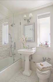 bathroom ideas small bathroom same tile as shower shower tile ends at tub then tile continues at lev