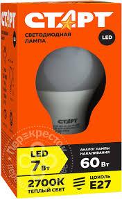 Купить <b>Лампа светодиодная Старт ECO</b> LED GLS E27 7Вт с ...
