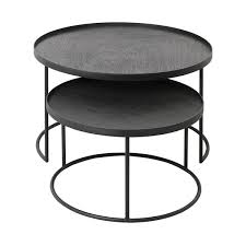 Round tray <b>coffee table set</b> | Large/Extra Large