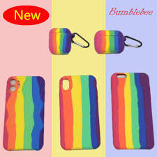 New 2020 <b>Rainbow Silicone Earphone case</b> for Airpods 1 2 pro ...