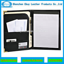 Factory Business Leather Resume Portfolio With Brass Corners  Letter Size Lined Writing Pad trasan supplier