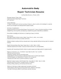 cover letter template for sample resume automotive technician gallery of sample resume automotive technician