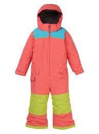 burton toddler girls illusion <b>one</b>-<b>piece snow</b> suit peach multi 2020