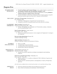 event planner resume job description equations solver creative event planner resume sle recentresumes