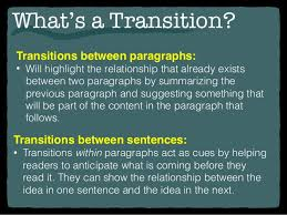transition sentences examples for essays  wwwgxartorg writing transitions