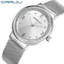 <b>New</b> Top <b>brand CRRJU</b> watch women luxury dress full steel ...