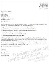 construction project manager cover letter sample construction manager cover letter