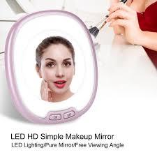 LED Lighting <b>HD Makeup Mirror</b> Tabletop Vanity Mirror Cosmetic ...