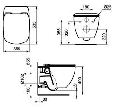 <b>Унитаз подвесной Ideal Standard</b> TESI AQUABLADE 365х335х535 ...