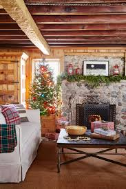 rustic style living room clever:  home for holidays tree