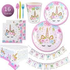 Unicorn Party Supplies Set - Plates, Cups, Napkins ... - Amazon.com
