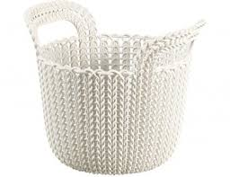<b>Корзина</b> хозяйственная <b>CURVER Knit</b> 51210499 <b>XS</b> 3 л White ...