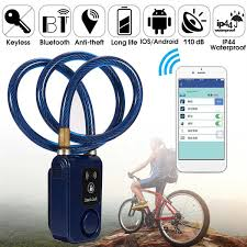 Sports & Outdoors Smart Bluetooth <b>Bicycle Lock Bike Anti Theft</b> Lock ...
