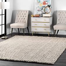 nuLOOM Vania Chevron Jute Rug, 4' x 6', Off White ... - Amazon.com