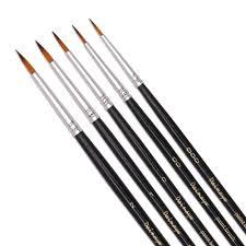 <b>6PCS</b> Miniature Detail <b>Paint Brush Set</b> Finest Quality Soft Brushes ...