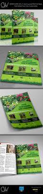 garden services flyer template on behance
