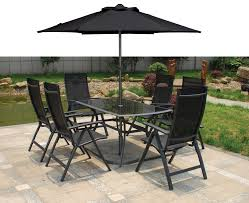patio black furniture sets with 6 chairs black garden furniture