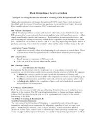 front office essay resume formt cover letter examples best photos of receptionist job description sample front desk