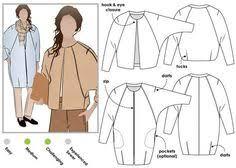 <b>Cocoon Jacket</b> - Multisize sewing pattern | Верхняя одежда ...