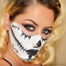 look sugar skull makeup tutorial