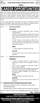 jobs punjab health initiative management company