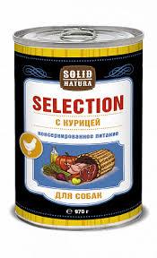 <b>Solid Natura Selection Курица</b> влажный корм для собак жестяная ...