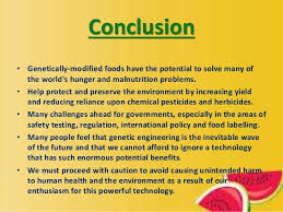 genetically modified food essay conclusion structure  homework
