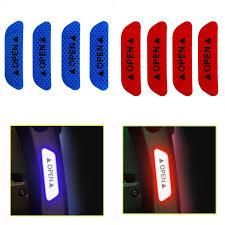 <b>4Pcs</b>/<b>Set</b> Car <b>Door OPEN</b> Reflective Tape Warning Mark Notice ...