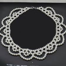 Newly Elegant <b>100</b>% <b>genuine natural pearl</b> choker necklace for ...