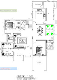 August   Kerala home design and floor plansKerala Home plan   Ground Floor   Sq  Ft