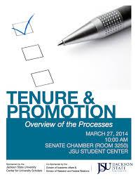 jackson state university center for university scholars news flyer for tenure and promotion workshop
