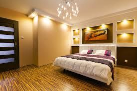 stylish bedroom modern lighting brown paint bedroom accent lighting surrounding