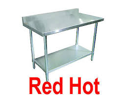 ampamp prep table: new fma omcan stainless steel quot x quot work prep table with backsplash